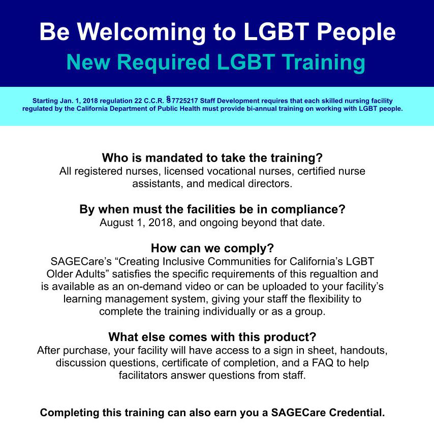 Be Welcoming to LGBT People - New Required LGBT Training